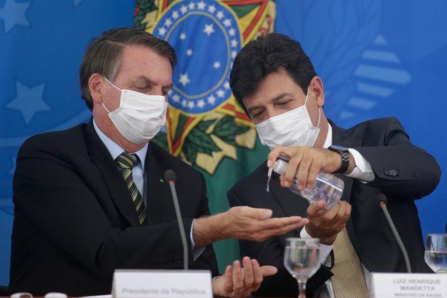 Presidente Jair Bolsonaro criticou Luiz Henrique Mandetta nesta quinta-feira (2):