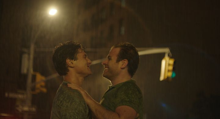 Director Mike Doyle was adamant that the film's central gay couple, Marklin (Augustus Prew) and Adam (Scott Evans), be played