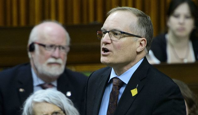NDP Peter Julian stands during question period in the House of Commons on Parliament Hill in Ottawa on...
