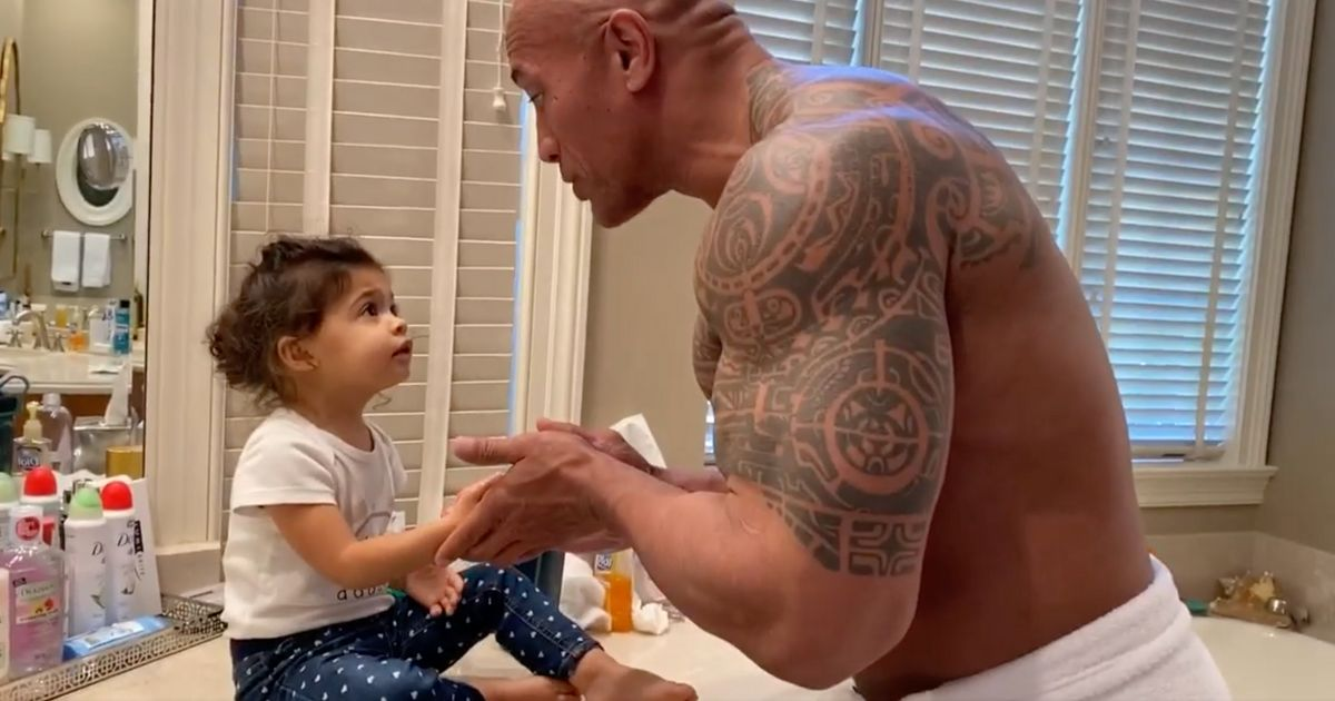We Thought We Were Over Celeb Hand-Washing Videos Until Dwayne 'The Rock' Johnson Got Involved