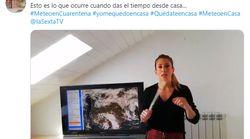 Isabel Zubiaurre (El tiempo de laSexta) muestra el incidente que no se vio en