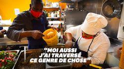 Cuisiniers et réfugiés, ils préparent les repas des soignants et des