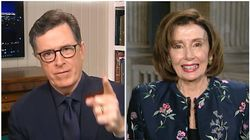 Nancy Pelosi's Interview With Stephen Colbert Takes A NSFW