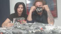 El grupo Obús dona sus mascarillas de 'merchandising' al Hospital Infanta Leonor de