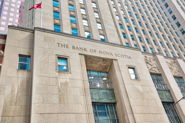In this stock photo, the Bank of Nova Scotia building is seen at First Canadian Place in Toronto, July...