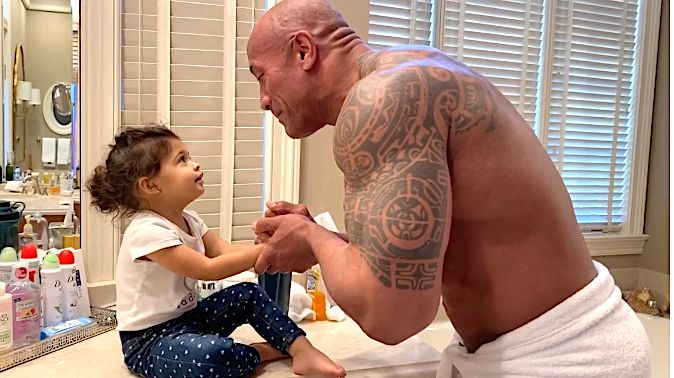 The Rock And Daughter Star In Your Quarantine Gold For The Day