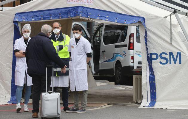 Toutes les actualités liées à l'épidémie de coronavirus le samedi 4 avril. Photo d'illustration prise...