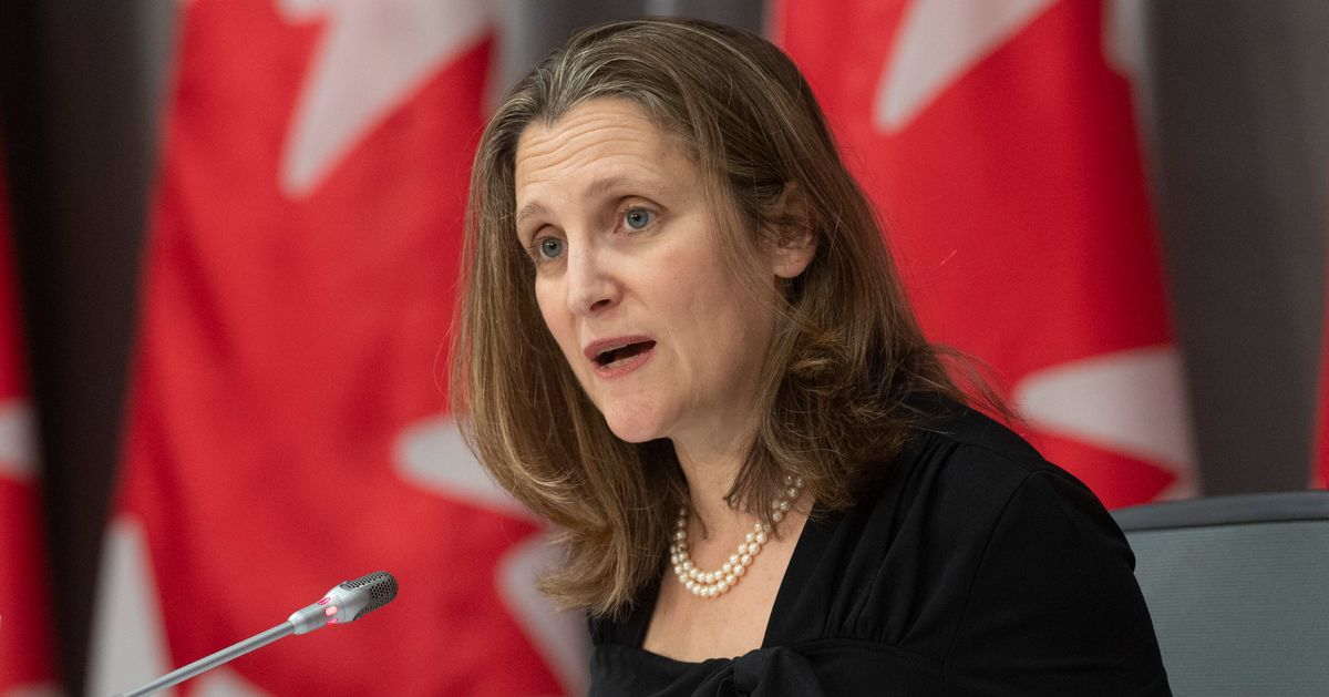 'We Love You Very Much,' Chrystia Freeland Tells Canada's Seniors