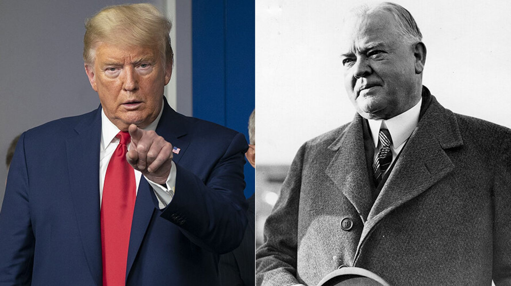 How Donald Trump's Coronavirus Response Compares To Herbert Hoover's Great Depression Failure