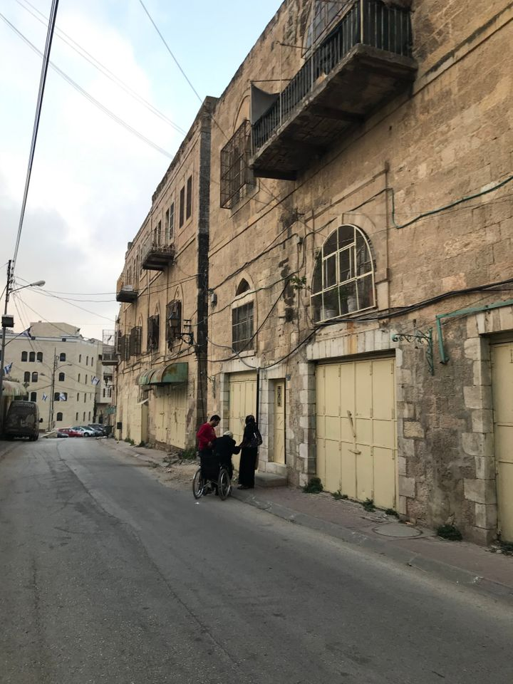 Some Palestinians still live in downtown Hebron in the occupied West Bank, near streets where they haven't been allowed to wa