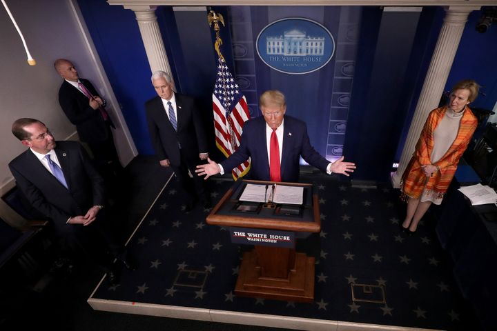 Trump, at Friday's White House briefing, vowed to help the uninsured with their coronavirus bills. But his plan will still le
