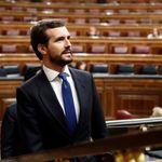 Críticas a Pablo Casado por el tuit que ha publicado minutos antes de que Sánchez