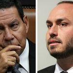 Carlos Bolsonaro ataca Mourão no Twitter e intensifica tensão na ala militar diante do