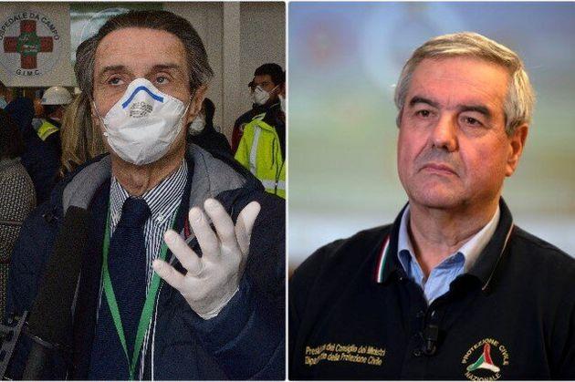 Il presidente della regione Lombardia e il capo dipartimento della Protezione