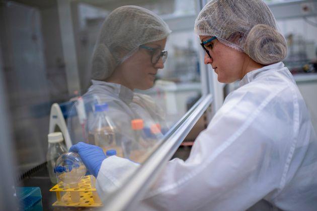 Pesquisadora trabalha no desenvolvimento de um teste de coronavírus (COVID-19) nos laboratórios...