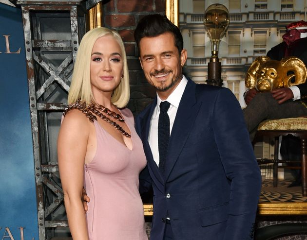 Katy Perry et Orlando Bloom, ici en août 2019 lors d'une avant-première à Los Angeles,...