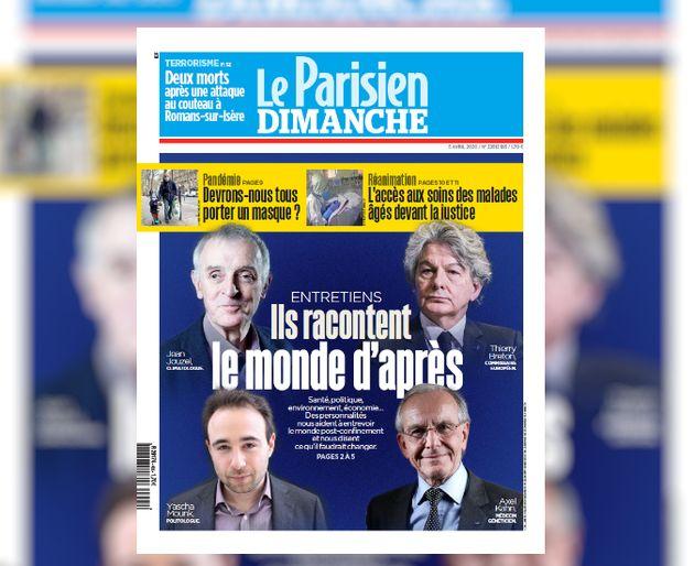 La Une du Parisien qui a déclenché le rapport de Céline Calvez sur la représentation...
