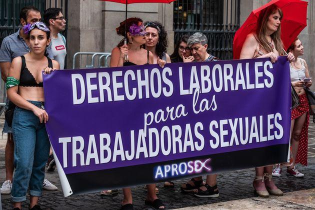 Imagen de archivo de una concentración a favor de los derechos laborales para las trabajadoras...