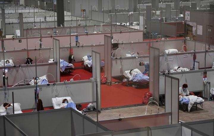 Vista general del Hospital de campaña de IFEMA.