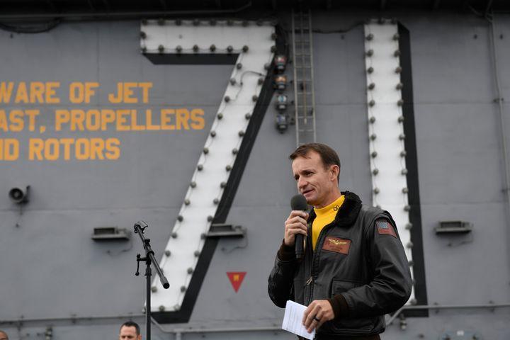 U.S. Navy Capt. Brett Crozier.
