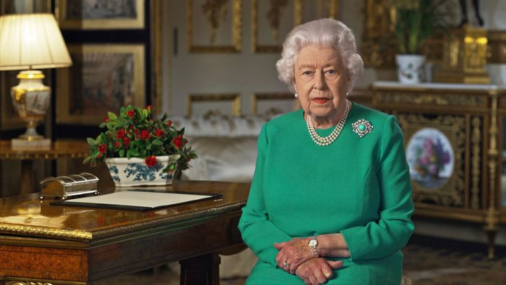 Queen Elizabeth II addressed the nation and the Commonwealth from Windsor Castle in a video broadcast on Sunday.