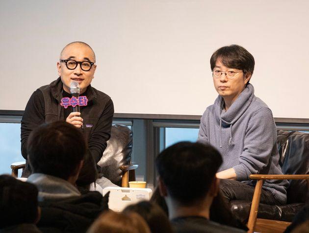 김봉진 우아한형제들 전 대표(왼쪽)와 김범준