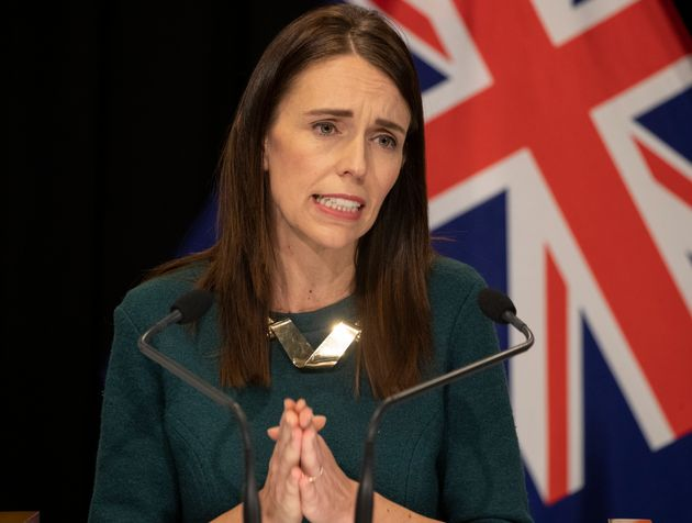 Prime Minister Jacinda Ardern speaks during her post-Cabinet media update at Parliament on April 6, 2020...