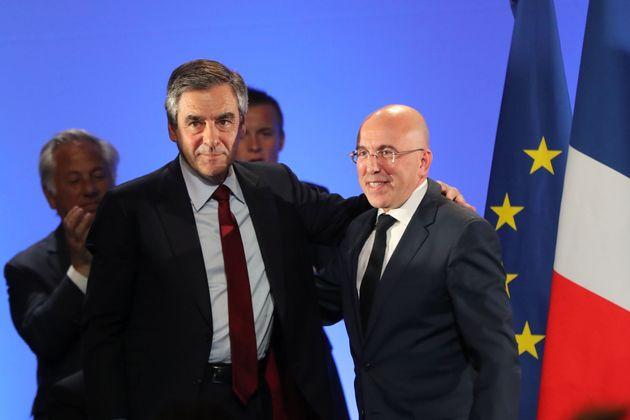 François Fillon et Éric Ciotti en avril 2017 durant la campagne