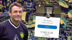 L'ex-coach de Nantes vend sa médaille pour aider les soignants, les supporters se cotisent pour la lui