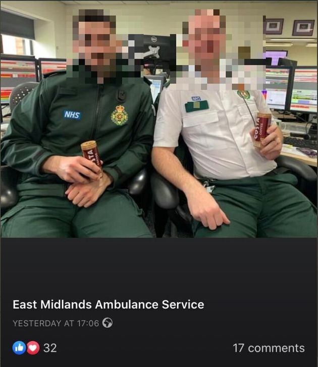 Pictures posted publicly on the East Midlands Ambulance Service's Facebook page.