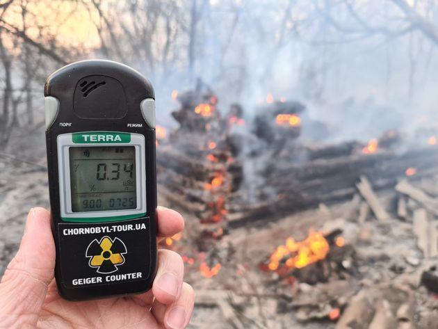 Incendio nei boschi di Chernobyl: radiazioni 16 volte superi