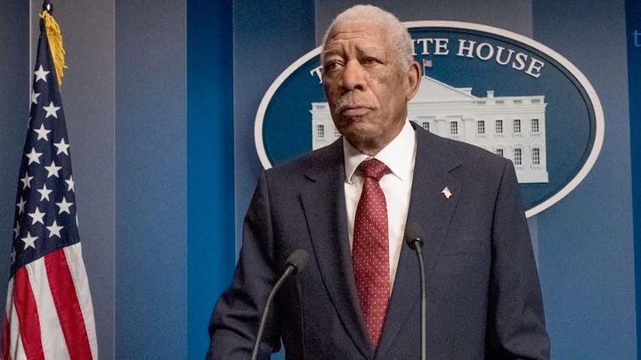 "Morgan Freeman in ""Angel Has Fallen."""