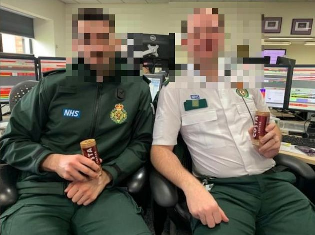 Pictures uploaded to the East Midland Ambulance Service's Facebook