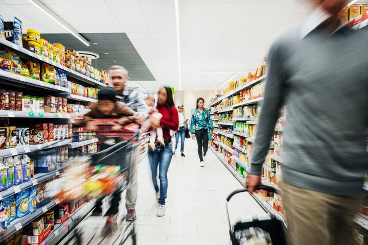In places where you can't maintain two metres of physical distance, like grocery stores, it's recommended that you wear a mask.