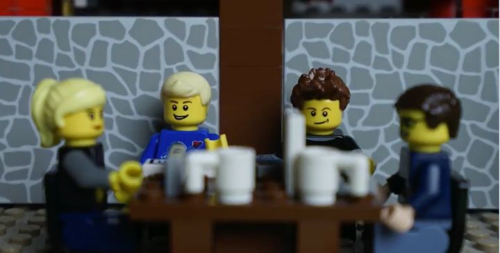The LEGO Walsh family, together in self-isolation.