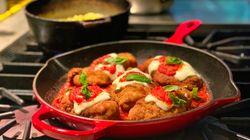 Milanesa de pollo a la