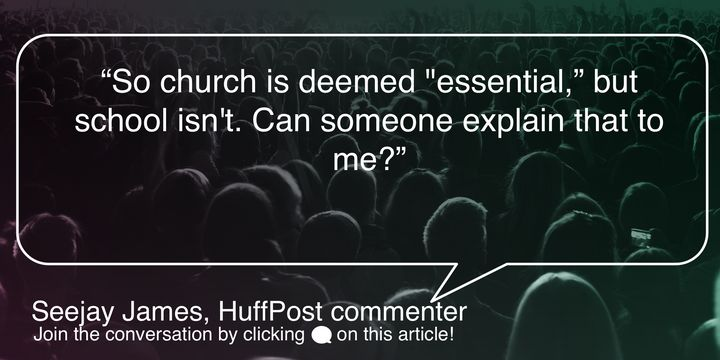 A comment left by a HuffPost reader.