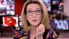 BBC News Host Schreibt Subtile Botschaft An die Häusliche Gewalt Opfer Auf der Hand