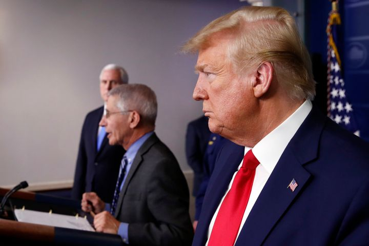 President Donald Trump says he already listens to military advisers and has the supply situation under control.