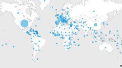 코로나19 발생 이후 212개국에서 확진자가 나오기까지 걸린