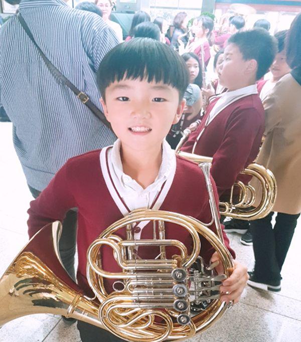 생전 학교 관악부로 활동했던 고홍준