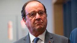 Endeuillé par la mort de son père, Hollande salue les personnels des