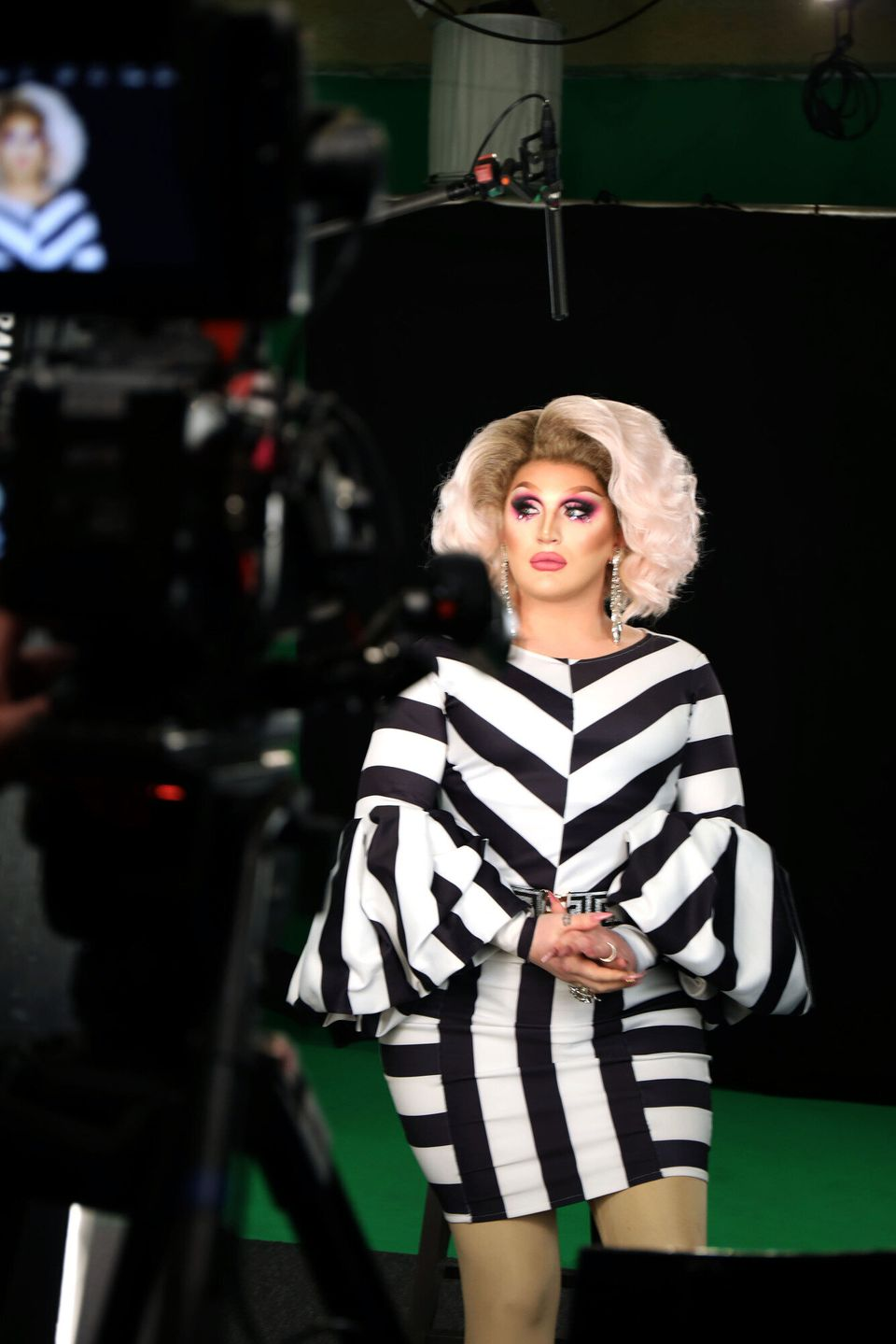 The Vivienne filming her new BBC Three