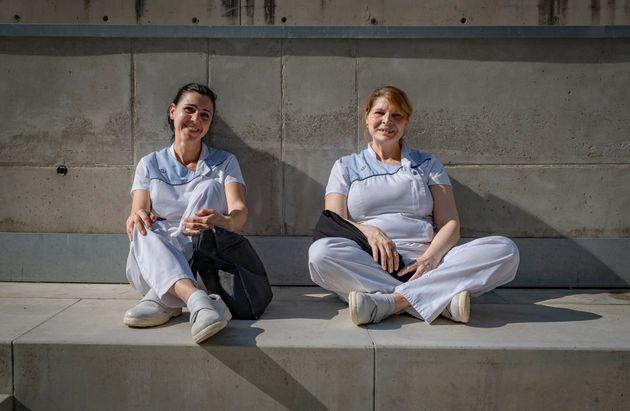 Trabajadoras de Hospital de Mar en
