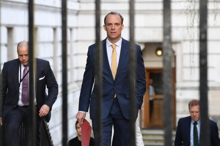 Foreign secretary Dominic Raab, who is taking charge of the government's response to the coronavirus crisis after Boris Johns