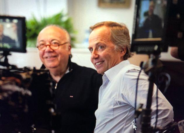 Fabrice Luchini avec son professeur de théâtre Jean-Laurent
