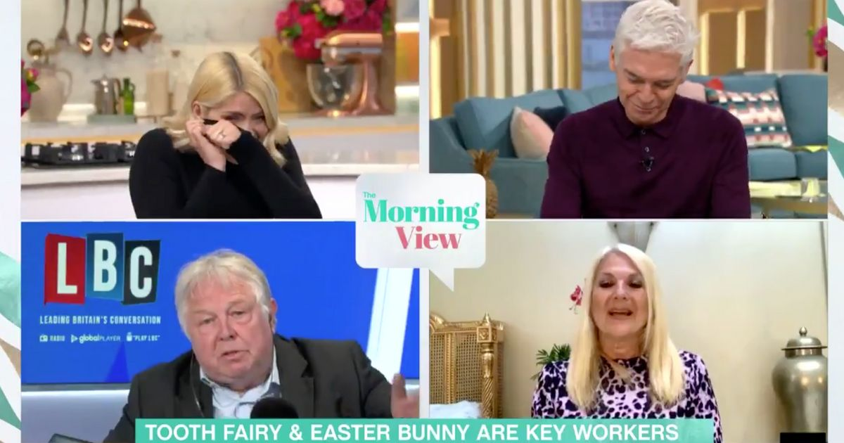 Holly And Phillip Struggle To Keep A Straight Face During 'Bizarre' Easter Bunny Debate On This Morning