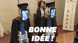 Ces étudiants japonais ont trouvé un moyen d'assister à leur remise de
