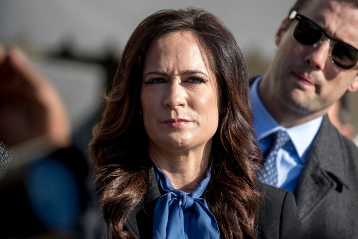 Departing White House press secretary Stephanie Grisham has served in the role since June 2019.