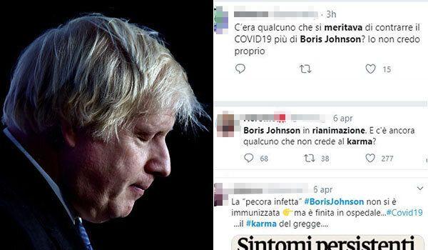 Boris Johnson e gli ignobili post contro di lui.